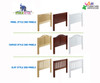 Maxtrix BLING Mid Loft Bed w/ Dressers & Bookcase Twin Size White | 26160 | MX-BLING2-WX