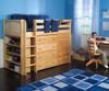 Maxtrix BLING Mid Loft Bed w/ Dressers & Bookcase Twin Size White | Maxtrix Furniture | MX-BLING2-WX