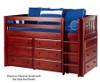 Maxtrix BOX Low Loft Bed w/ Dressers Twin Size Chestnut | 26165 | MX-BOX-CX