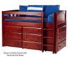 Maxtrix BOX Low Loft Bed w/ Dressers Twin Size Natural | 26166 | MX-BOX-NX