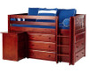 Maxtrix BOX Storage Low Loft Bed with Desk Twin Size Chestnut 1 | 26169 | MX-BOX1L-CX