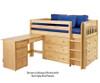 Maxtrix BOX Storage Low Loft Bed with Desk Twin Size Natural | 26170 | MX-BOX1L-NX
