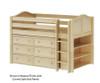 Maxtrix BOX Low Loft Bed w/ Dresser & Bookcase Twin Size Natural | 26175 | MX-BOX2-NX