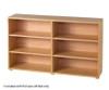 Maxtrix BOX Low Loft Bed w/ Dresser & Bookcase Twin Size Natural | Maxtrix Furniture | MX-BOX2-NX