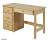 Maxtrix BOX Low Loft Bed w/ Storage & Desk Twin Size Chestnut | Maxtrix Furniture | MX-BOX3L-CX
