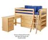 Maxtrix BOX Low Loft Bed w/ Storage & Desk Twin Size White | Maxtrix Furniture | MX-BOX3L-WX