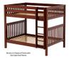 Maxtrix BUFF High Bunk Bed Full Size Chestnut | 26183 | MX-BUFF-CX