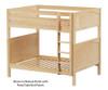 Maxtrix BUFF High Bunk Bed Full Size Natural | 26184 | MX-BUFF-NX