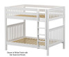 Maxtrix BUFF High Bunk Bed Full Size White   26185   MX-BUFF-WX