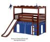 Maxtrix CAMELOT Castle Low Loft Bed with Slide Twin Size Chestnut | 26189 | MX-CAMELOT5-CX