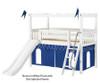 Maxtrix CAMELOT Castle Low Loft Bed with Slide Twin Size Chestnut 1 | Maxtrix Furniture | MX-CAMELOT7-CX