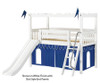 Maxtrix CAMELOT Castle Low Loft Bed with Slide Twin Size Natural | Maxtrix Furniture | MX-CAMELOT7-NX