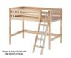 Maxtrix CHAP Mid Loft Bed Twin Size Natural | 26195 | MX-CHAP-NX