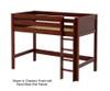 Maxtrix CHIP Mid Loft Bed Twin Size Chestnut | Maxtrix Furniture | MX-CHIP-CX