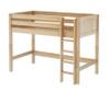 Maxtrix CHIP Mid Loft Bed Twin Size Natural   Maxtrix Furniture   MX-CHIP-NX