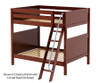 Maxtrix CHUFF High Bunk Bed Full Size Chestnut | 26200 | MX-CHUFF-CX