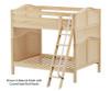 Maxtrix CHUFF High Bunk Bed Full Size Chestnut | Maxtrix Furniture | MX-CHUFF-CX