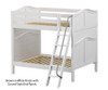 Maxtrix CHUFF High Bunk Bed Full Size White | Maxtrix Furniture | MX-CHUFF-WX