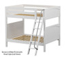 Maxtrix CHUFF High Bunk Bed Full Size White | 26202 | MX-CHUFF-WX