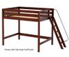 Maxtrix CHUNKY High Loft Bed Full Size Chestnut | 26203 | MX-CHUNKY-CX