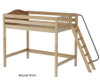 Maxtrix CHUNKY High Loft Bed Full Size Chestnut | Maxtrix Furniture | MX-CHUNKY-CX