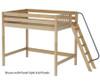 Maxtrix CHUNKY High Loft Bed Full Size Natural | 26204 | MX-CHUNKY-NX