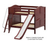 Maxtrix CLIFF Low Bunk Bed w/ Slide Full Size Chestnut   Maxtrix Furniture   MX-CLIFF-CX