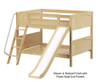 Maxtrix CLIFF Low Bunk Bed w/ Slide Full Size Natural | 26207 | MX-CLIFF-NX