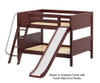 Maxtrix CLIFF Low Bunk Bed w/ Slide Full Size White | Maxtrix Furniture | MX-CLIFF-WX