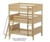 Maxtrix COMPLEX Triple Bunk Bed Full Size Chestnut | 26209 | MX-COMPLEX-CX