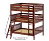 Maxtrix COMPLEX Triple Bunk Bed Full Size Natural | Maxtrix Furniture | MX-COMPLEX-NX