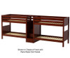 Maxtrix COOL Quadruple Medium Bunk Bed with Stairs Twin Size Chestnut | 26212 | MX-COOL-CX