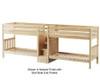 Maxtrix COOL Quadruple Medium Bunk Bed with Stairs Twin Size Chestnut | Maxtrix Furniture | MX-COOL-CX