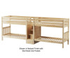 Maxtrix COOL Quadruple Medium Bunk Bed with Stairs Twin Size Natural | 26213 | MX-COOL-NX