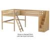 Maxtrix CREST Corner High Loft Bed Full Size Natural | 26218 | MX-CREST-NX