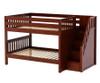 Maxtrix DAPPER Low Bunk Bed with Stairs Full Size Chestnut   Maxtrix Furniture   MX-DAPPER-CX