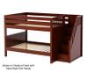Maxtrix DAPPER Low Bunk Bed with Stairs Full Size Chestnut   26219   MX-DAPPER-CX