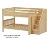 Maxtrix DAPPER Low Bunk Bed with Stairs Full Size Natural | 26220 | MX-DAPPER-NX