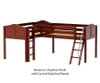 Maxtrix DOUBLE Corner Low Loft Bed Twin Size Chestnut | Maxtrix Furniture | MX-DOUBLE-CX