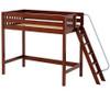 Maxtrix DUNK High Loft Bed Twin Size Chestnut   Maxtrix Furniture   MX-DUNK-CX