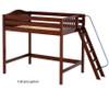Maxtrix DUNK High Loft Bed Twin Size Chestnut | Maxtrix Furniture | MX-DUNK-CX