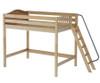 Maxtrix DUNK High Loft Bed Twin Size Natural | Maxtrix Furniture | MX-DUNK-NX