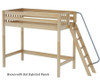 Maxtrix DUNK High Loft Bed Twin Size Natural | 26232 | MX-DUNK-NX
