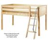 Maxtrix EASY RIDER Low Loft Bed Twin Size Natural | Maxtrix Furniture | MX-EASYRIDER-NX