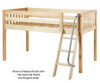 Maxtrix EASY RIDER Low Loft Bed Twin Size Natural | 26235 | MX-EASYRIDER-NX