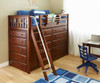 Maxtrix EMPEROR High Loft Bed Twin Size Chestnut | Maxtrix Furniture | MX-EMPEROR-CX
