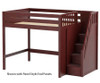 Maxtrix ENORMOUS High Loft Bed with Stairs Full Size Chestnut | 26243 | MX-ENORMOUS-CX