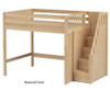 Maxtrix ENORMOUS High Loft Bed with Stairs Full Size Chestnut | Maxtrix Furniture | MX-ENORMOUS-CX