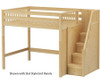 Maxtrix ENORMOUS High Loft Bed with Stairs Full Size Natural | 26244 | MX-ENORMOUS-NX