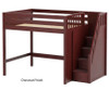 Maxtrix ENORMOUS High Loft Bed with Stairs Full Size Natural | Maxtrix Furniture | MX-ENORMOUS-NX